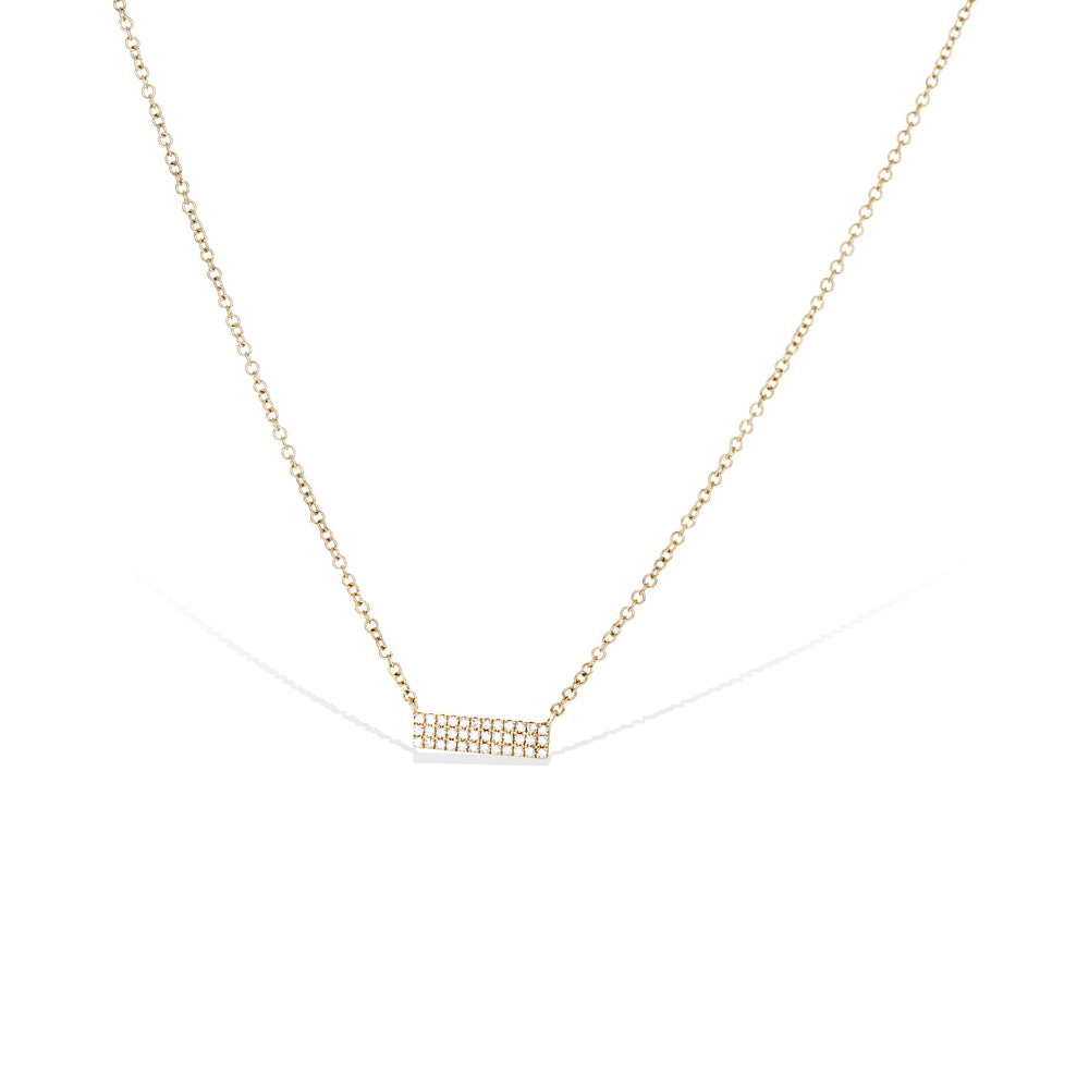 Alexandra Marks - everyday diamond bar necklace in 14kt gold