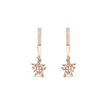 Alexandra Marks | Diamond Star Huggie Hoops 14kt Rose Gold