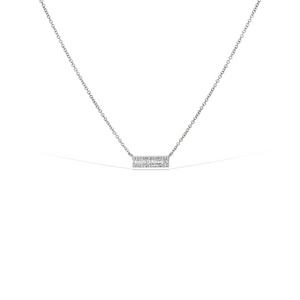 Alexandra Marks - Baguette Diamond Bar Necklace