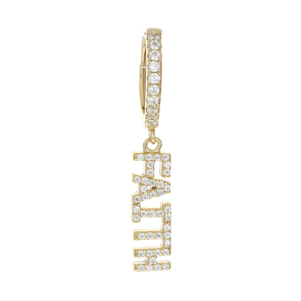 Single Faith Charm Earring