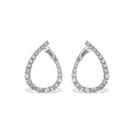 Alexandra Marks | Curved CZ Statement Hoop Earrings - Silver
