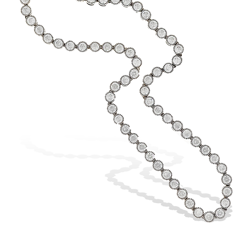 Alexandra Marks - Bezel Set CZ Tennis Necklace in Sterling Silver