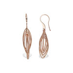 Geometric Oval Diamond Cut Rose Gold Plated Drop Earrings - Alexandra Marks Jewelry