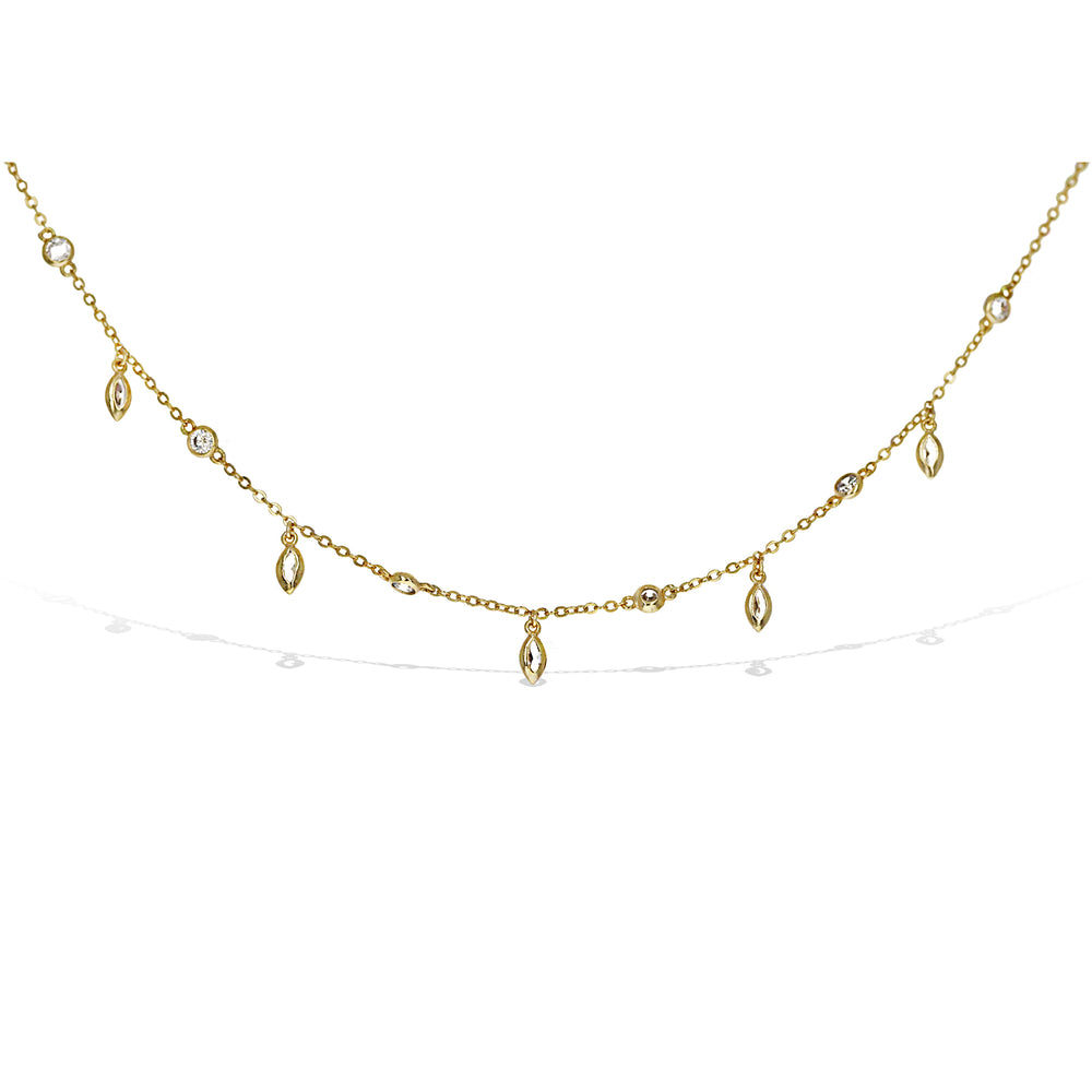 Marquise Charm Choker Necklace