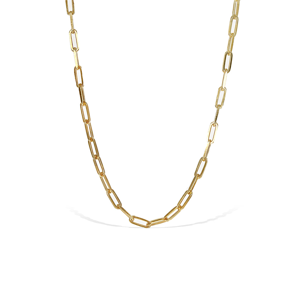 Alexandra Marks - Gold Open Oval Link Choker Chain necklace