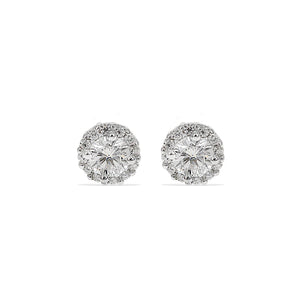 Load image into Gallery viewer, Alexandra Marks - 6mm Halo Cz Stud Earring in Sterling Silver