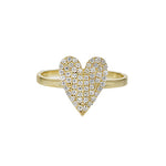 Alexandra Marks - Pave' CZ Pointed Heart Ring in Gold Plated Silver