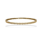Alexandra Marks | Gold Hexagon CZ Bridal Bracelet