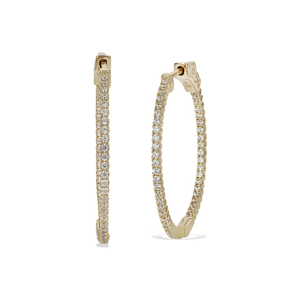 Inside-Outside Hoop Earrings