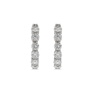 Alexandra Marks - 20mm Inside-Outside Cz Hoop Earrings in Sterling Silver