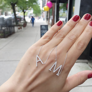 Load image into Gallery viewer, Cz Letter M Necklace