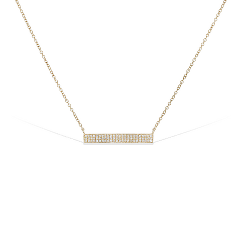 Long Diamond Double Row Bar Necklace