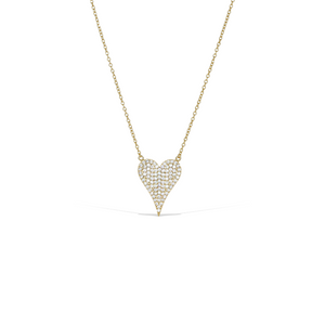Large Pointed Cz Heart Necklace in Gold - Alexandra marks Jewelry