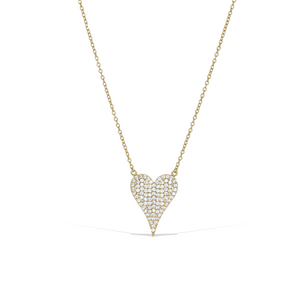 Alexandra Marks - Gold Pointed Heart Cz Necklace