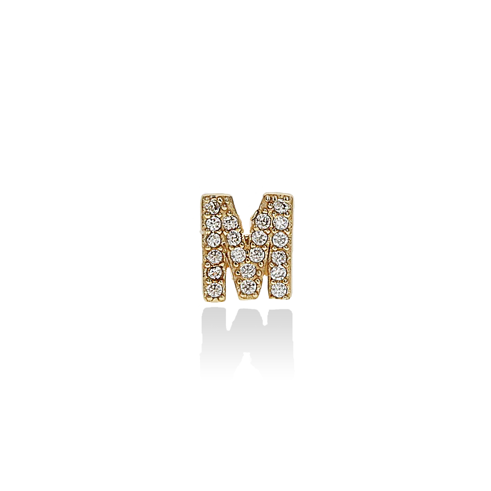 Letter M Stud Earrings