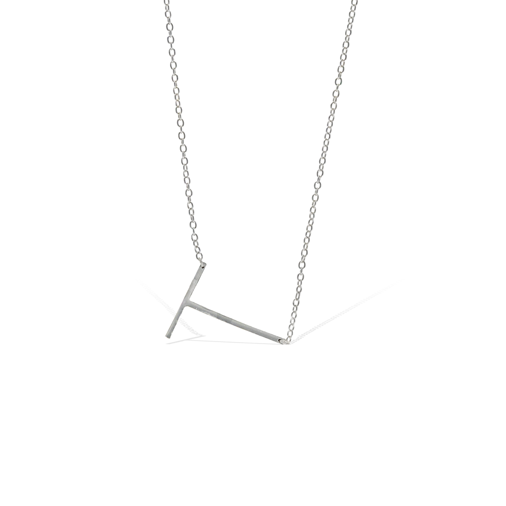 Load image into Gallery viewer, Letter T Necklace