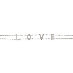 Load image into Gallery viewer, Alexandra Marks | Sterling silver love word bracelet