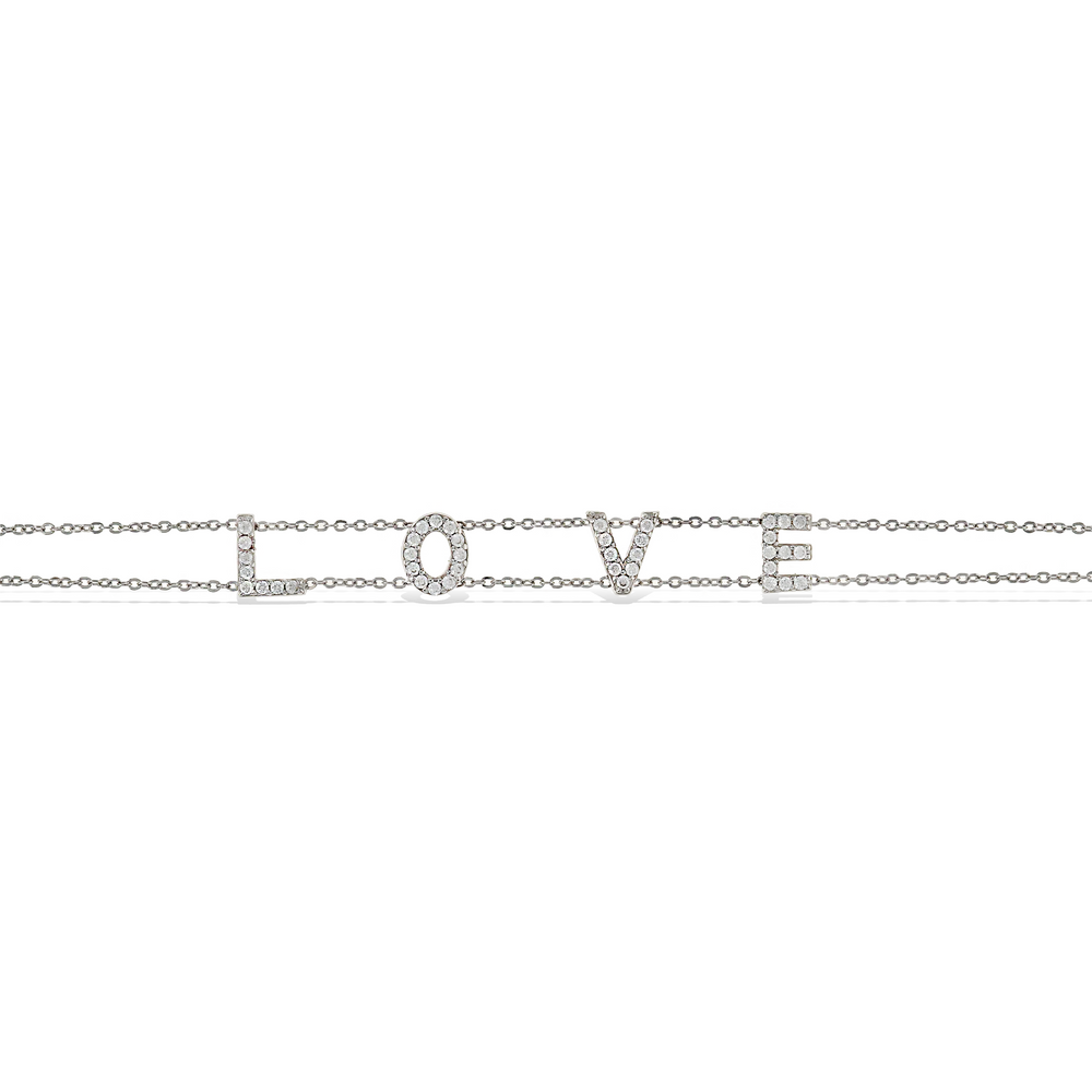 Load image into Gallery viewer, Alexandra Marks | Cz Love bracelet in sterling silver