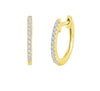 Dainty Diamond Gold Huggie Hoops