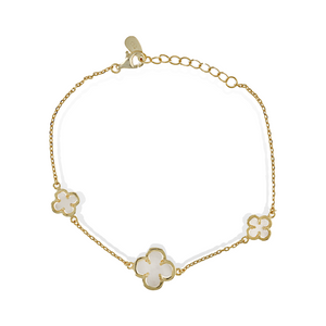 Load image into Gallery viewer, Triple Clover Bracelet