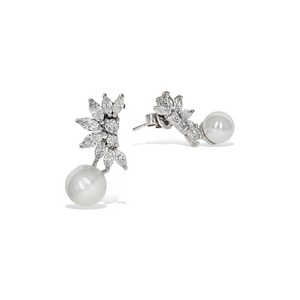 Marquise Pearl Earrings