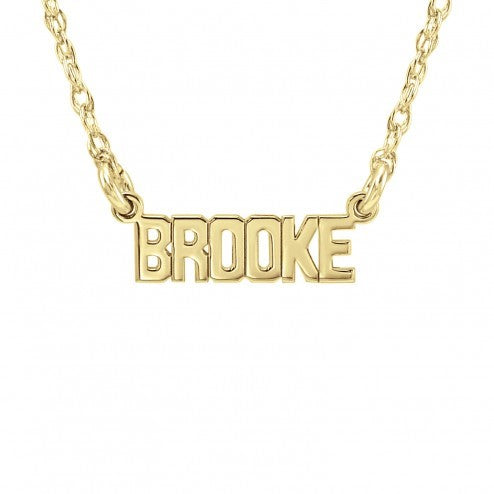Alexandra Marks | Mini Name Personalized Necklace in Gold