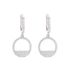 Open Disc Drop Earrings