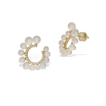 ALexandra Marks | White Pearl Curved Gold Bridal Earrings