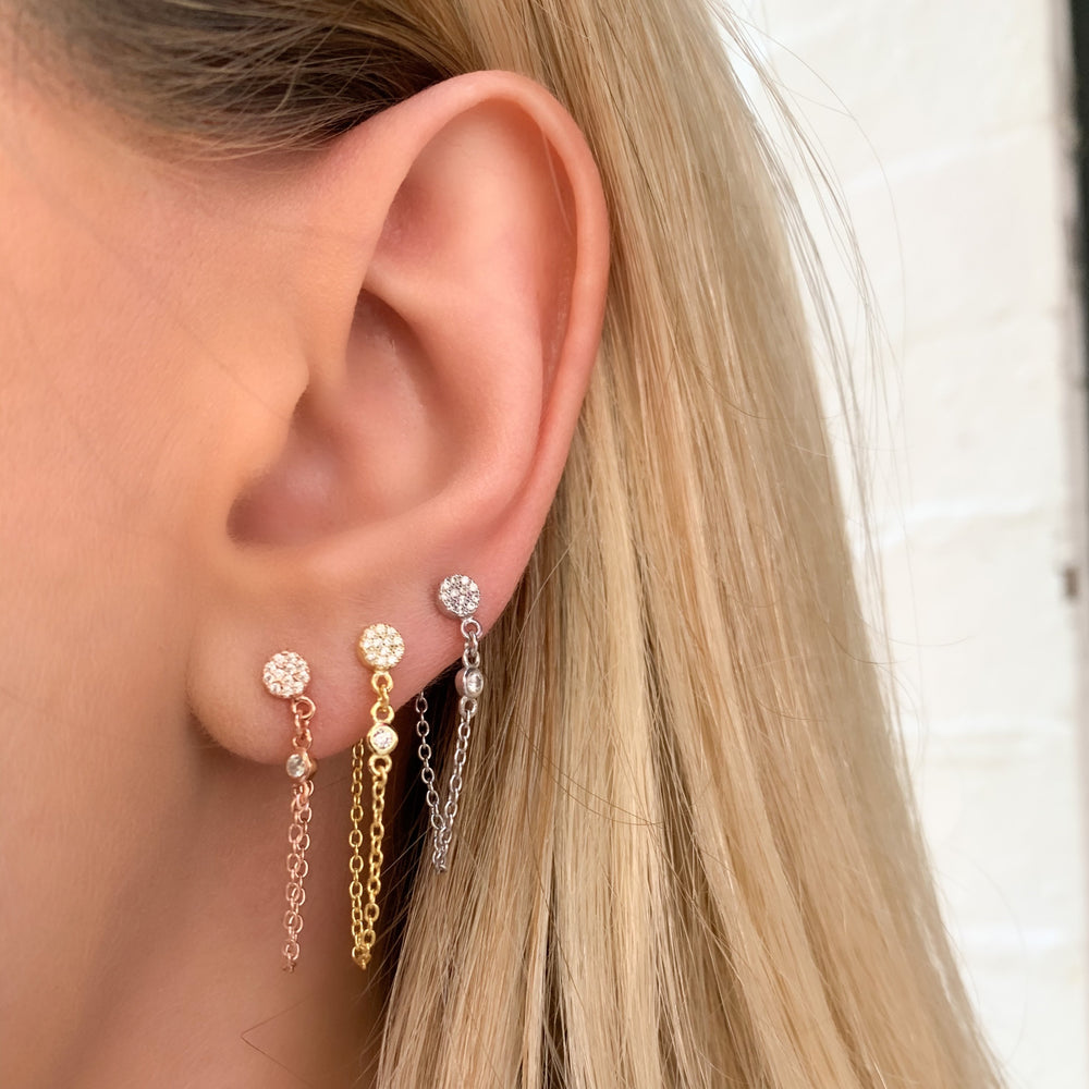 Chained Disc Earrings