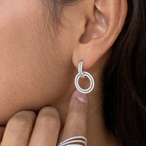 Load image into Gallery viewer, Circle Link Earrings