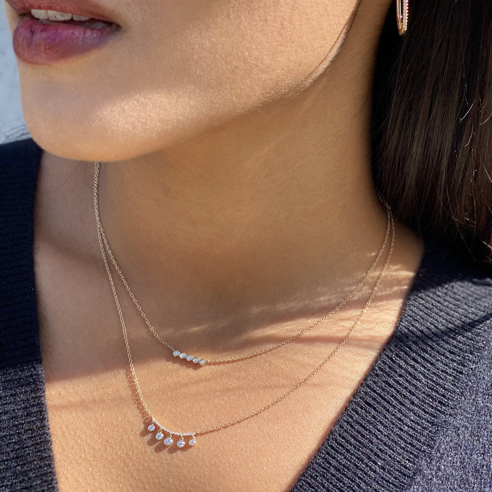 ALexandra Marks - Layering our 14kt gold & diamond bar necklaces
