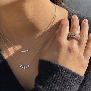 Dainty Diamond Bar Necklaces - Alexandra Marks