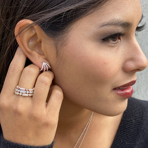 Load image into Gallery viewer, Diamond Curved Cuff Earrings