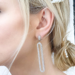 Elongated Oval Earrings