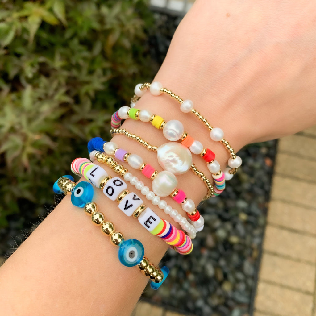 Colorful Pearl Bead Bracelets