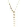 Diamond Teardrop Gold Y-Necklace