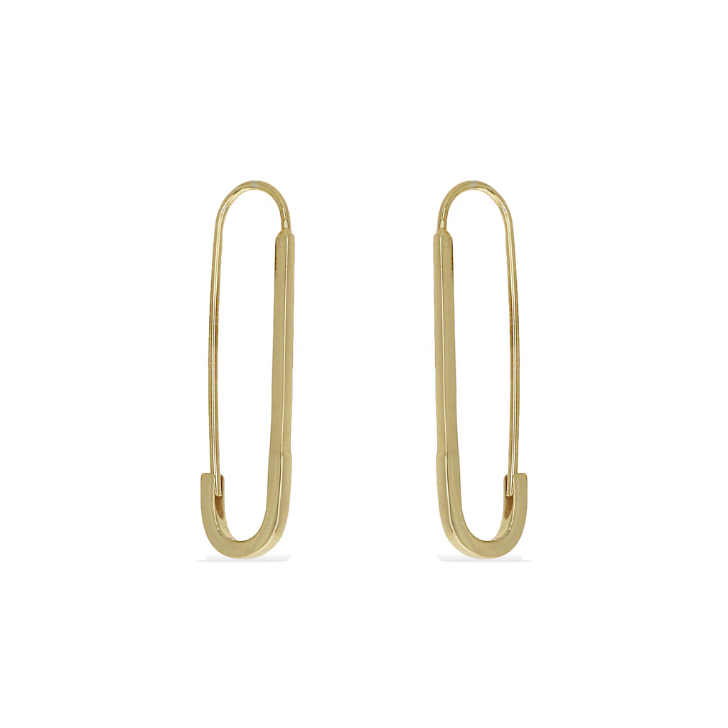 Safety Pin Hoops