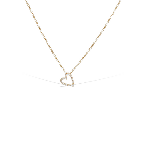 Diamond Sideways Heart Necklace