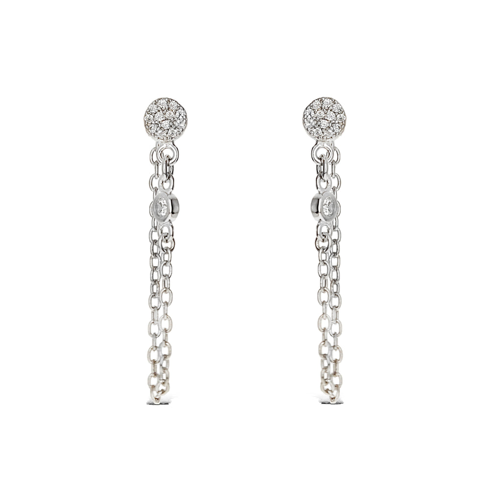 Simple enough these silver chain earrings can be worn in a second or even third piercing