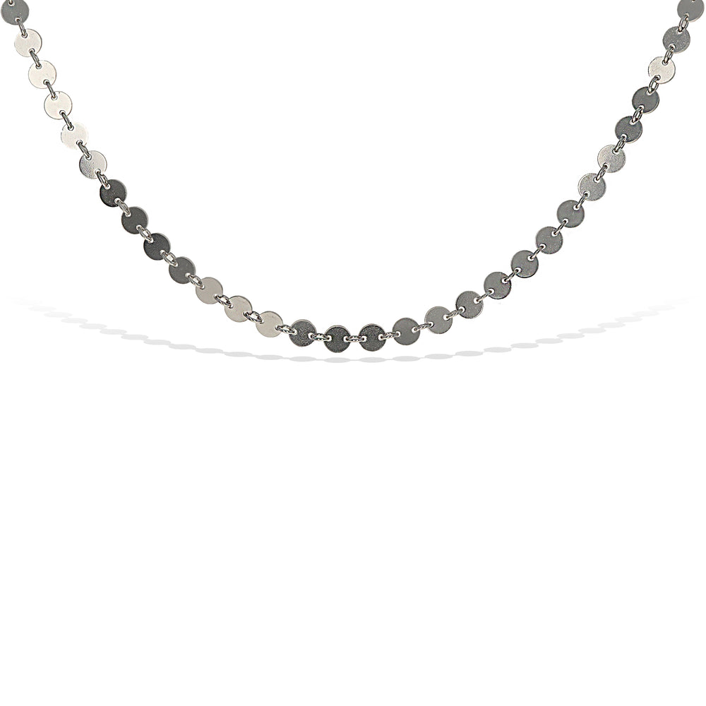 High Polished Sterling Silver Disc Choker Necklace