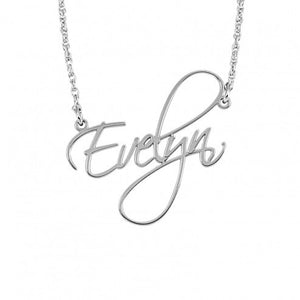 Small Calligraphy style name necklace