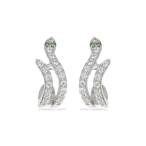 Alexandra Marks - Sterling Silver Snake Earrings