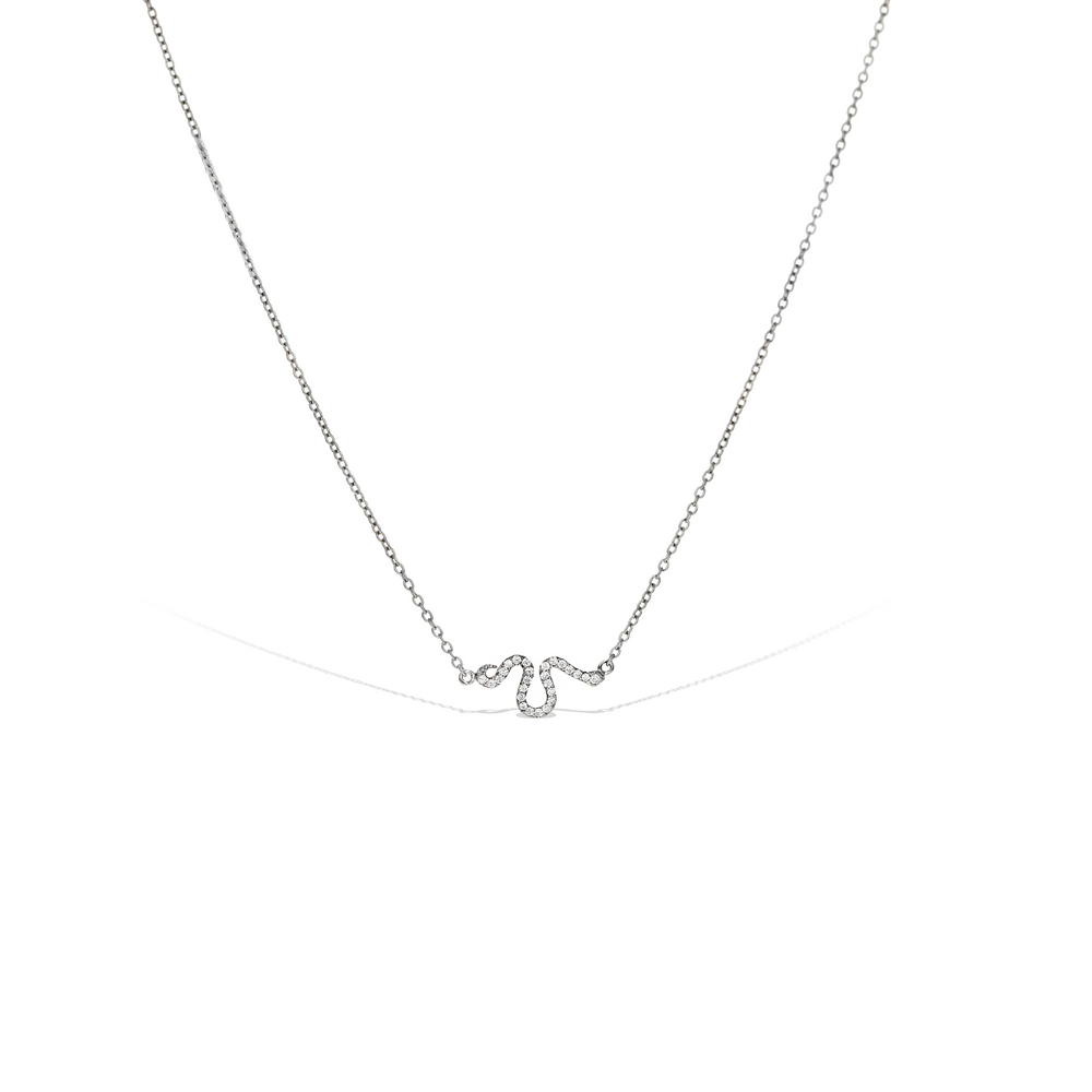 Alexandra Marks - Sterling Silver and CZ Snake Necklace