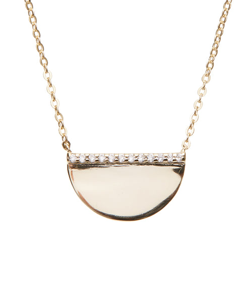 Golden Half Moon Necklace