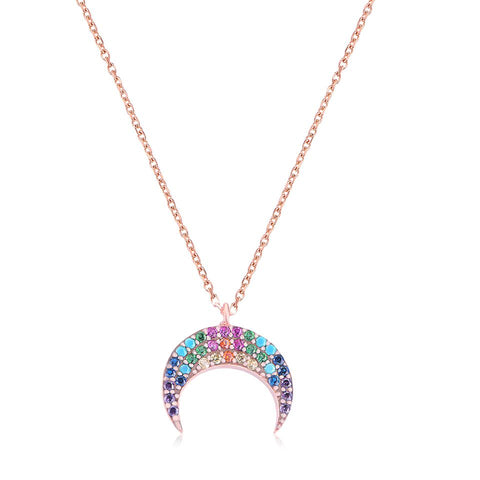Rainbow Moon Necklace