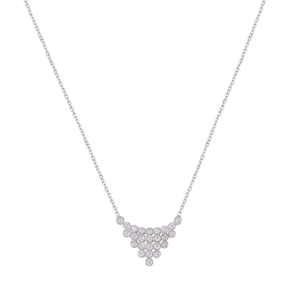 Bubble Triangle Necklace