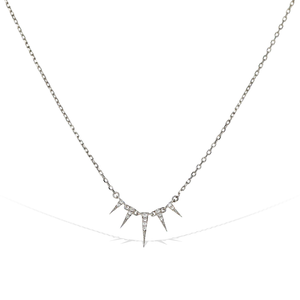 Alexandra Marks | Tiny Triangle Necklace in Sterling Silver