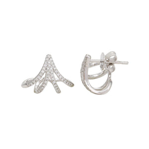 Diamond Curved Cuff Earrings
