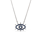 Alexandra Marks | Wide Awake Evil Eye Cz Necklace in Silver