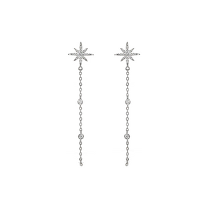 Alexandra Marks | Celestial Chain Drop CZ Earrings
